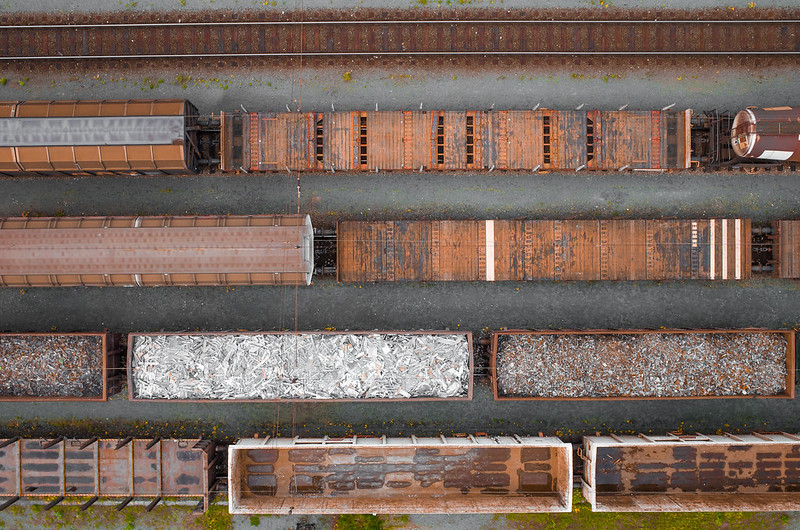 rusty freight trains