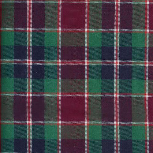 暗紅綠格  耶誕格紋 襯衫洋裝服裝布料 FC490430