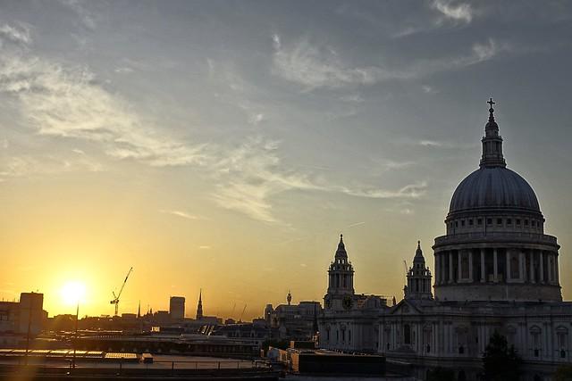 St Pauls at sunset