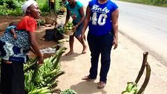 Ijesha women roadside hawking green plantains and oranges, Osun, Nigeria. #JujuFilms