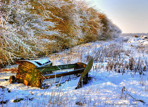 uk blue winter light england snow colour nature landscape gold countryside nikon scenery northamptonshire fields february 2012 lateafternoon hedgerow tonemapped d80 geddington sheepfeeders