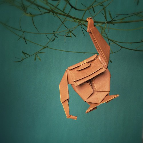 Origami Monkey by Paperaria