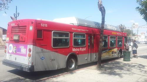 LACMTA Metro Rapid New Flyer C-40LF #5315