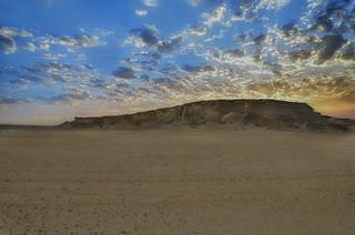 Sunset in Zakreet Qatar