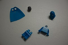 LEGO Blue Imperial Guard - Deconstructed