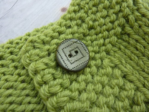 Vintage Green sweater buttons
