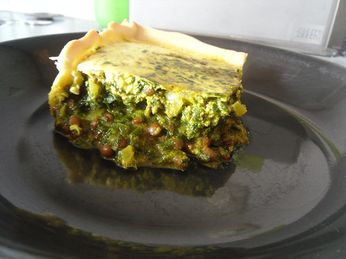 Spinach Masala Quiche close-up