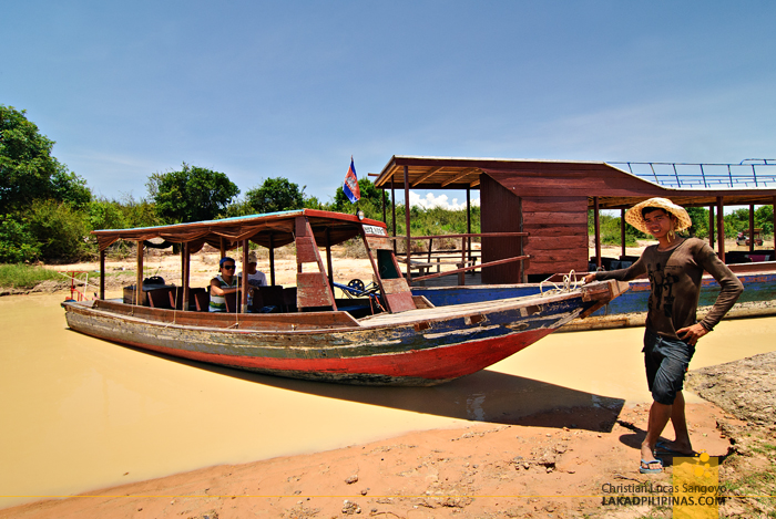 Our Boat to the Floating Village of Kompong Phluk in Siem Reap