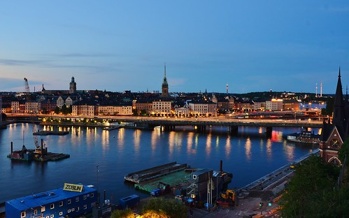 city sunset panorama skyline night europe cityscape sweden stockholm dusk sverige monteliusvagen