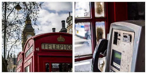 London cabin and the Big Ben, London - Cabina londinense y el Big Ben, Londres