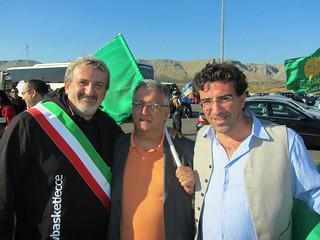 Da sinistra, Emiliano, Lomelo, Flavio Oliva