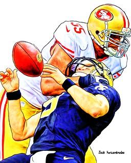 San Francisco 49ers AhmadBrooks - New Orleans Saints Drew Brees