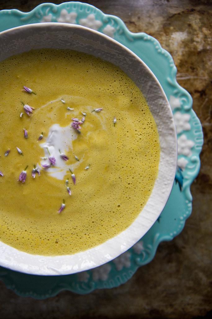 Corn Coconut Curry Soup