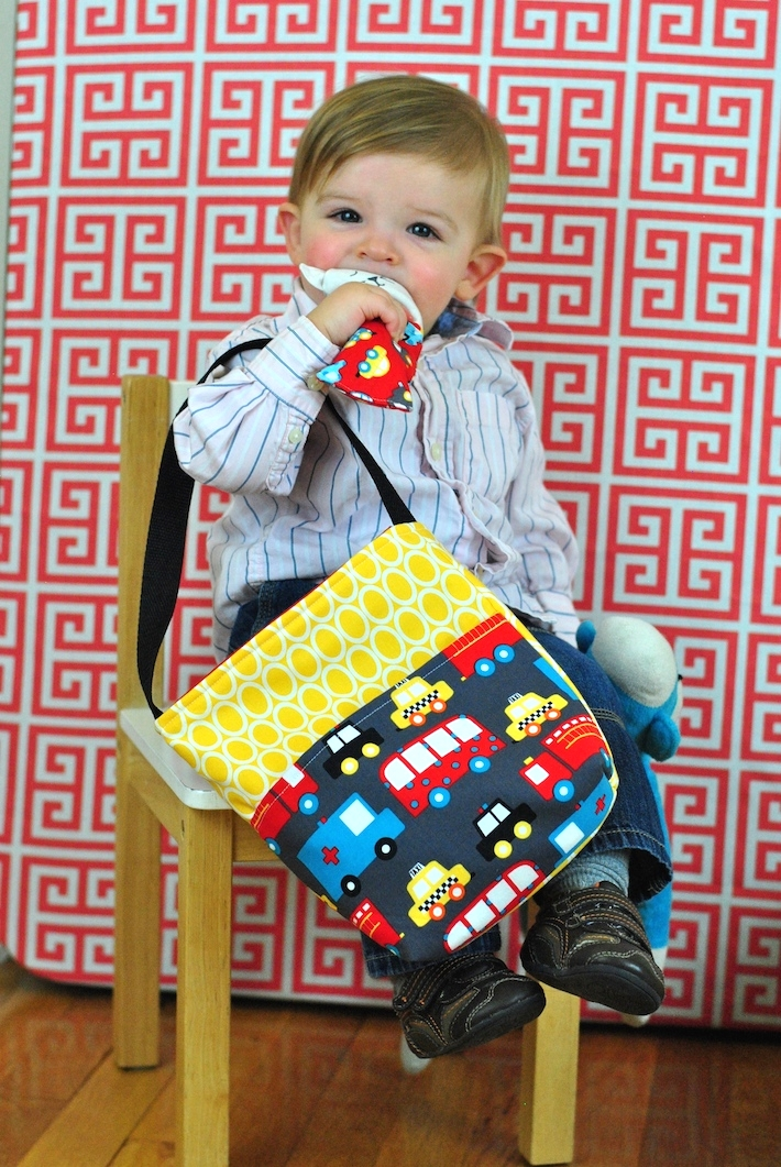 Toddler Boy Bag in Ready Set Go fabric
