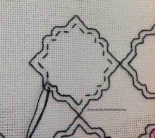 Holbein Stitch Front