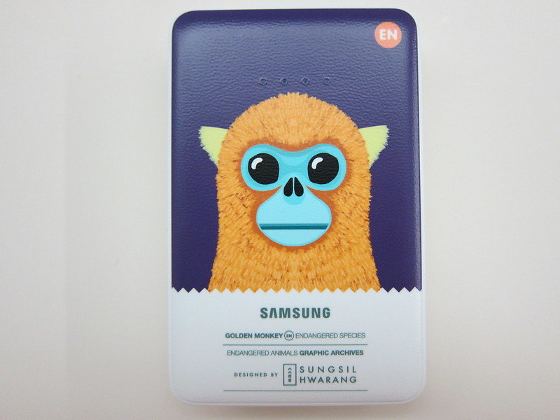 Samsung Animal Edition Battery Pack (11,300mAh) (Golden Monkey) - Front