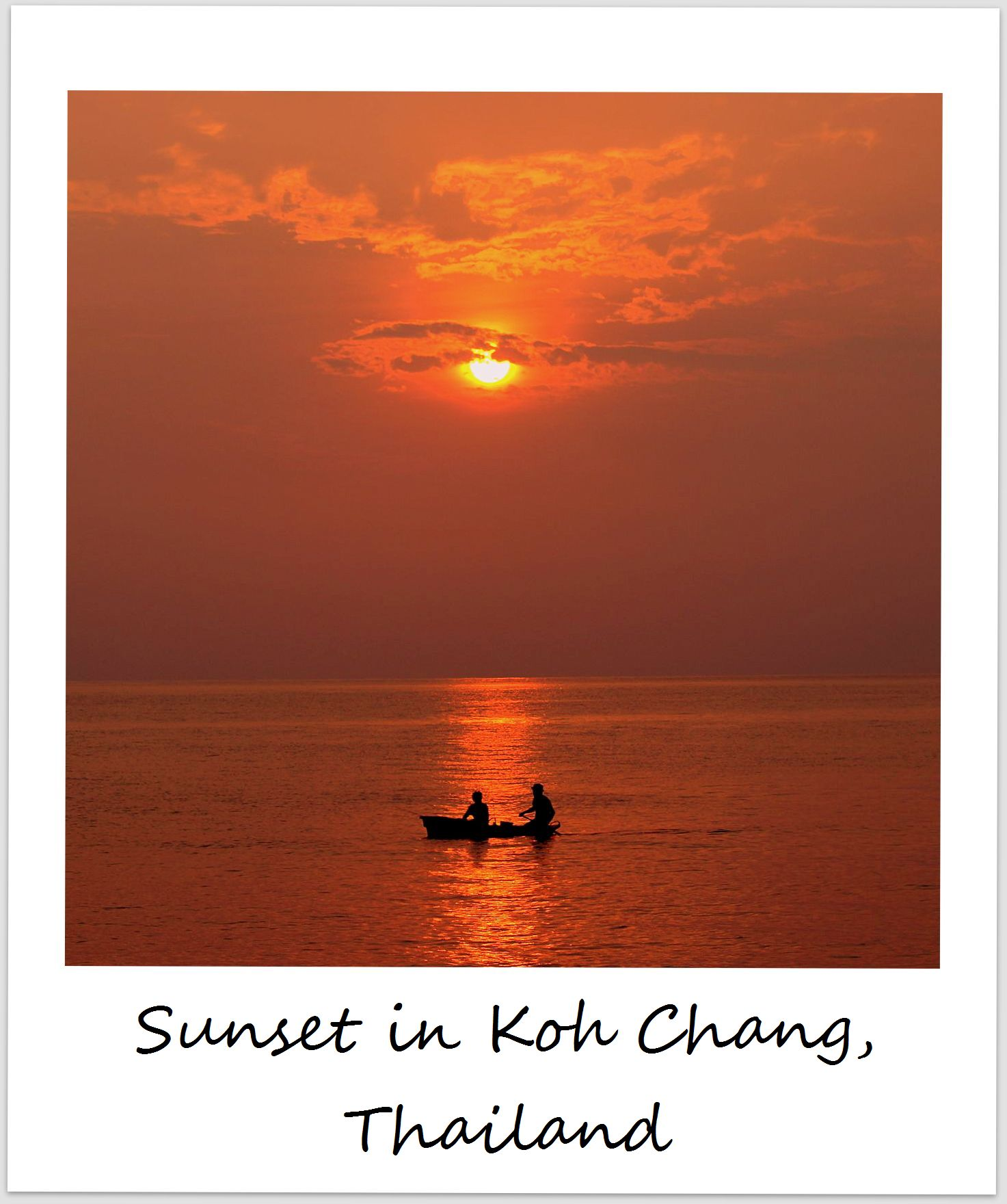 polaroid of the week thailand koh chang sunset
