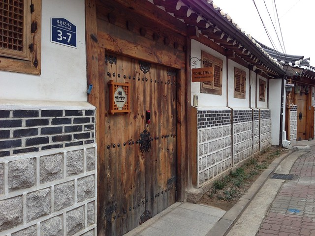 Stunning doors of the hanok