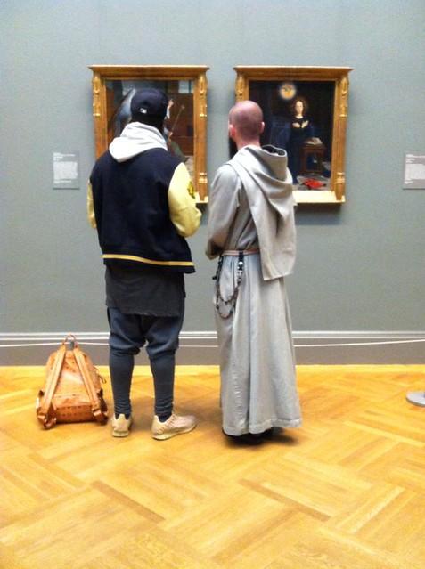 art lovers at the Met