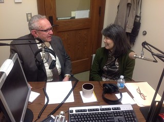 Rep. Norm Johnson and Rep. Sharon Tomiko Santos on the radio