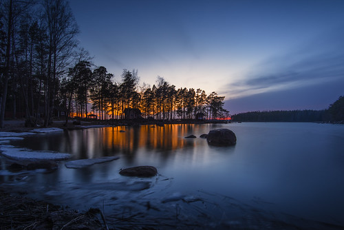 blue sunset water reflections evening nikon nikkor jyrki d600 1635mm salmi mussalo niinilahti