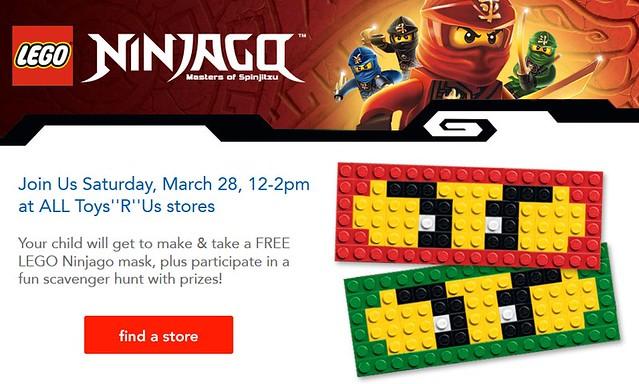 Toys R Us LEGO Ninjago Build Event