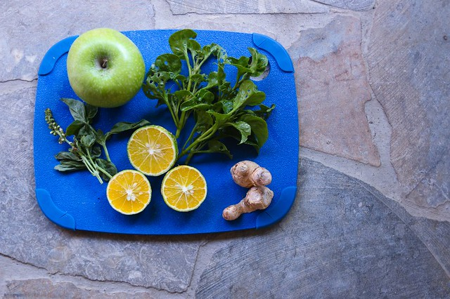 Ingredients for Blue Osa detox Smoothie