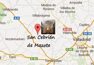 Mapa de San Cebrián de Mazote (Valladolid)