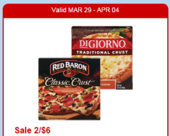 Red Baron Pizza Sale at CVS