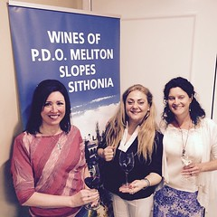 #Ambassador at #work with @domaineportocarras owner Yliana Stengou and Katy of #OldWorldVines at the #Womenswinealliance event