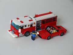 Pumper and Ferrari - Scale