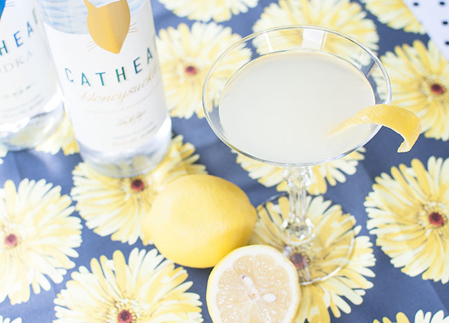 honeysuckle-sour4   Honeysuckle Vodka Collins featured by top Atlanta foodie blogger, Miss Molly Moon