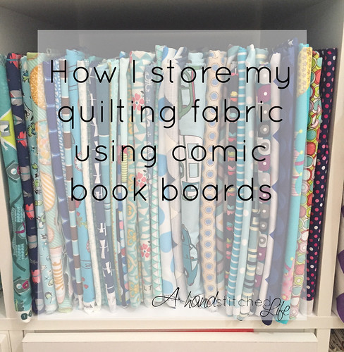 how I store my quilting fabric