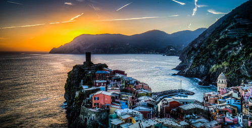 Sunset on Vernazza, Cinque Terre, Italy