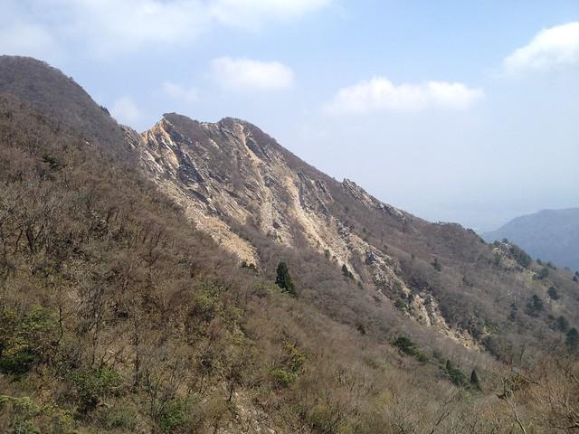釈迦ヶ岳 県境稜線縦走路からキレット