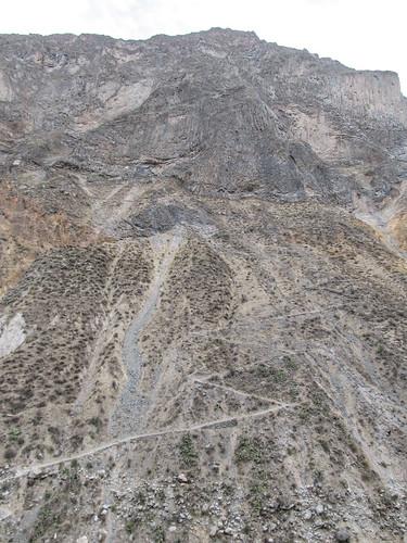 Trek du Cañon de Colca: le chemin que nous venons de descendre