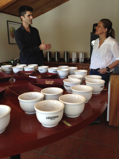 Peter and Rachel talking about the cupping