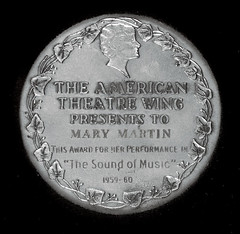 Tony Award medal Mary Martin reverse