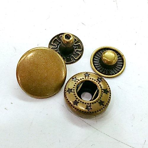 素面四合扣包(15mm)-10入 手工藝材料配件 SA002003-15