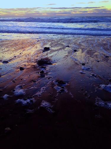 ocean sunset beach waves pacificocean
