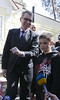 Ambassador Pyatt, together with Swiss Ambassador to Ukraine Christian Schoenenberger, visited Father's Care NGO, Kyiv, April 17, 2015