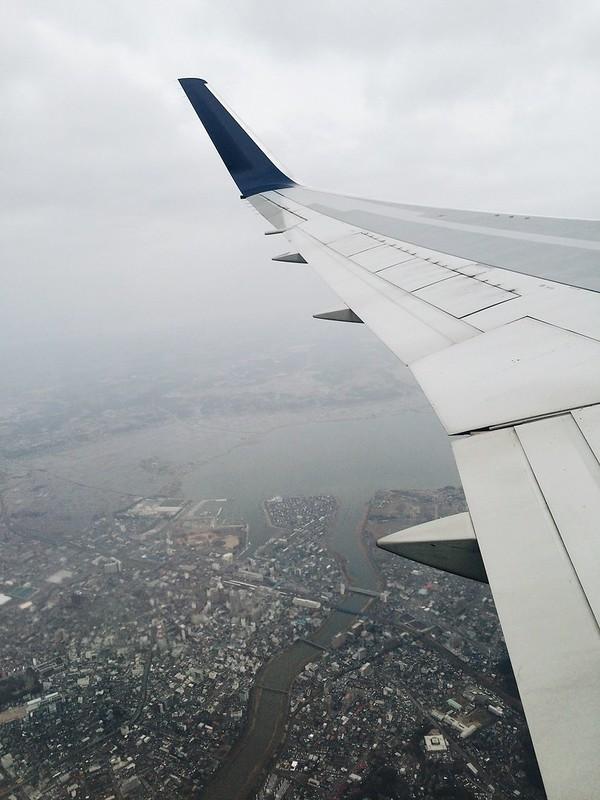 Flying over Tokyo Narita