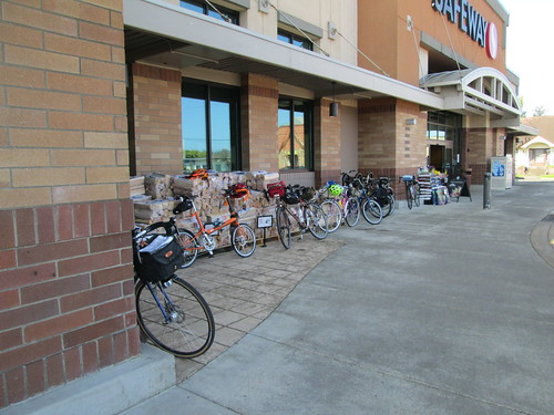 Rando bikes at the Tillamook Safeway