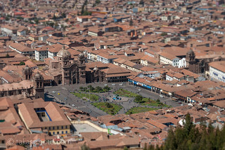"""""""Miniture"""" Cuzco from Sacsayhuaman"""