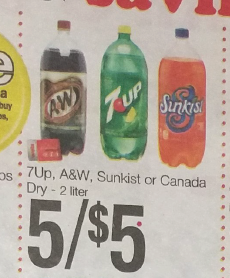 Weiss Sale on 7Up 2 liters