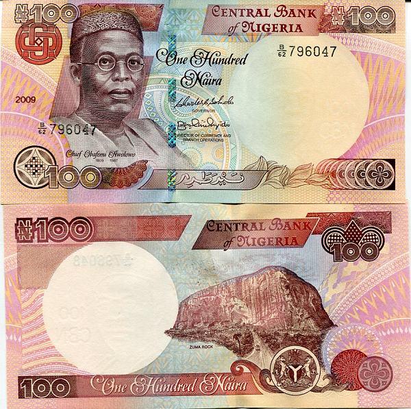 100 Naira Nigéria 2009, Pick 28