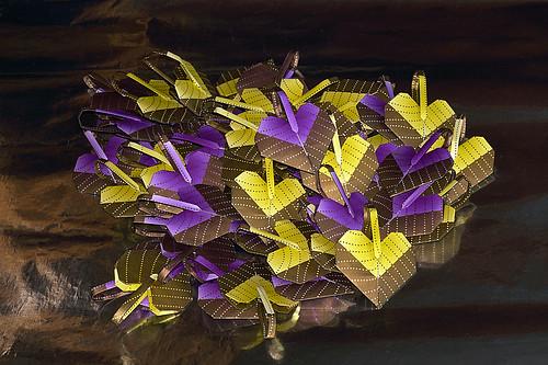Origami Heart-shaped potpourri sachet (Terumi Tatsumi)