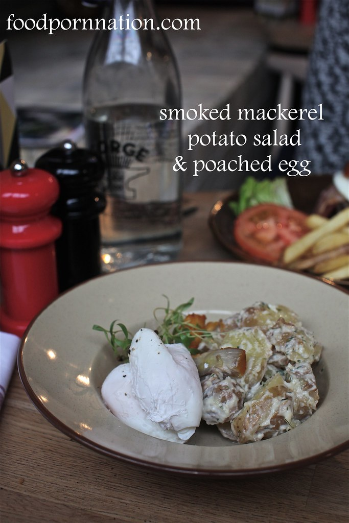 smoked mackerel, potato salad & poached egg - Forge & Co, Shoreditch - London Food Blog
