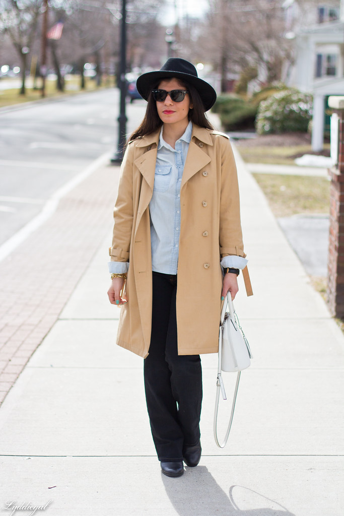 double denim, trench coat, wool fedora-5.jpg
