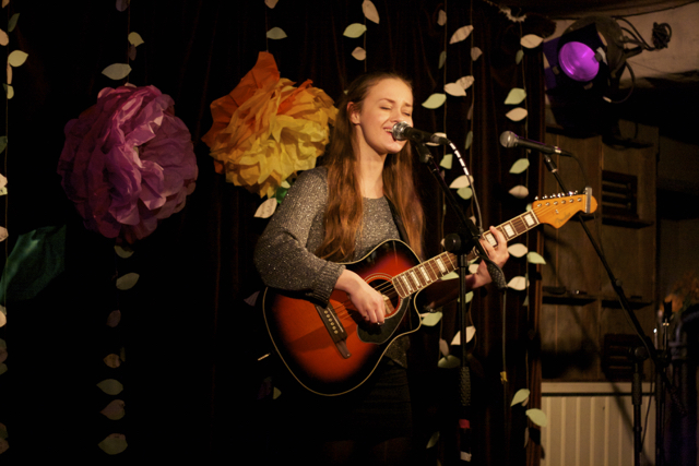 Agata performing at The Acoustic Folk Highway - The Harrison, London